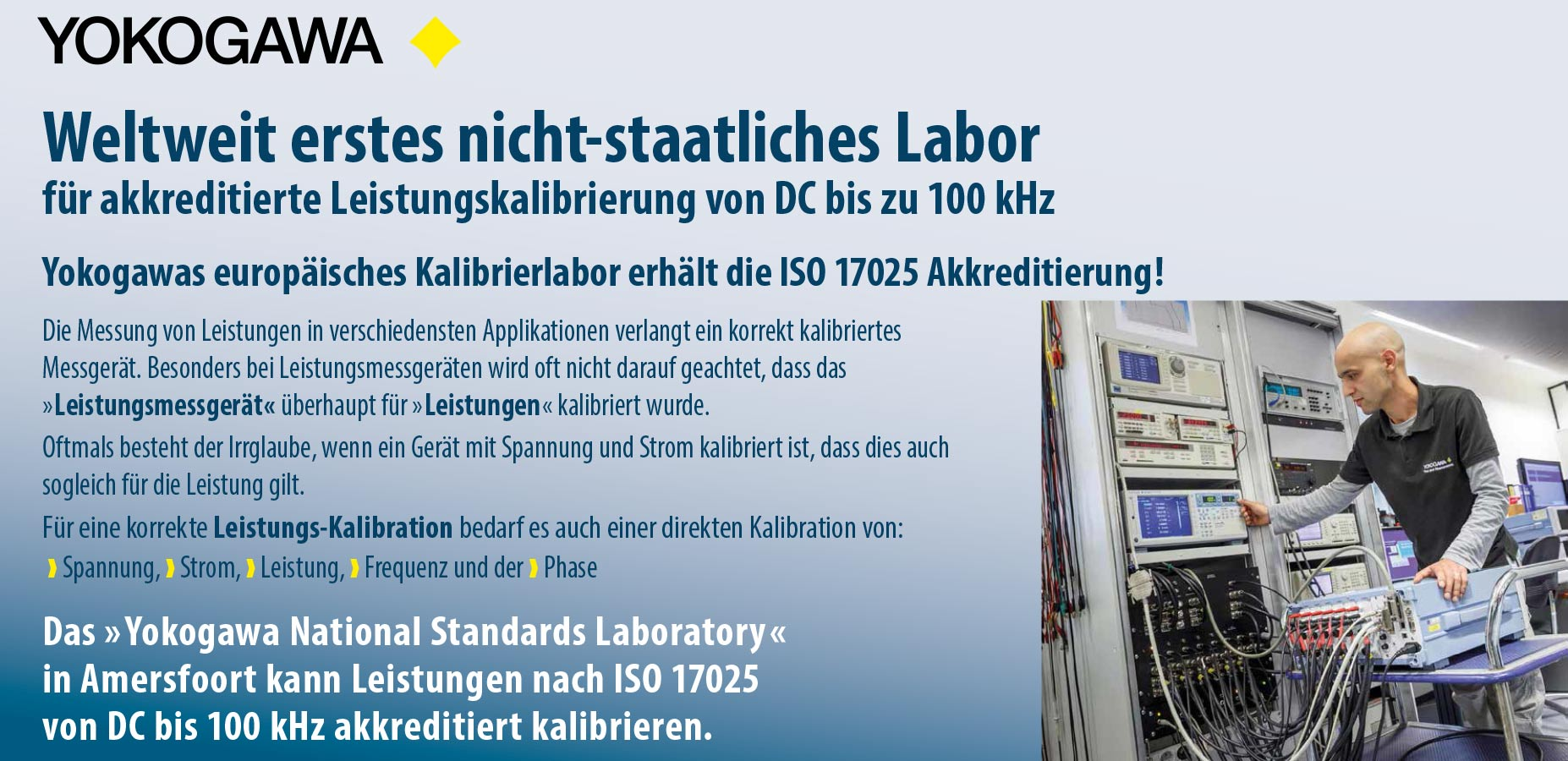 YOKOGAWA ISO 17025 Messlabor