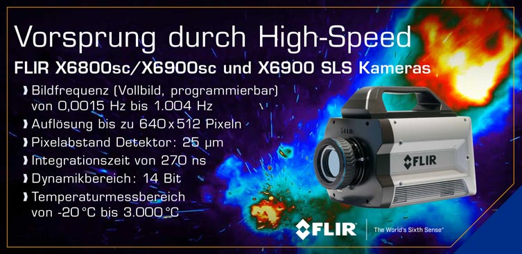 FLIR X6800sc/X6900sc und X6900 SLS Kameras