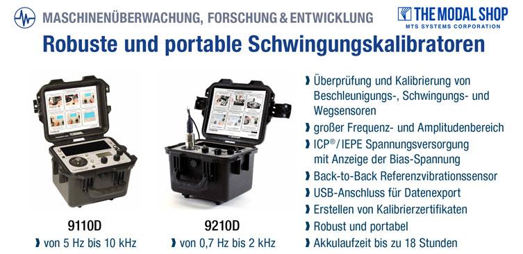 Robuste und portable Schwingungskalibratoren