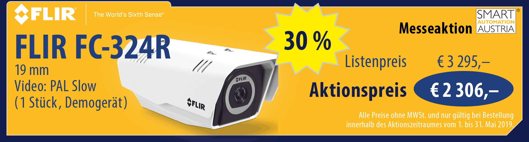 SMART Messeaktion 2019 - FLIR FC-324R
