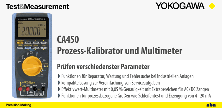CA450 - Tragbarer Prozess-Kalibrator